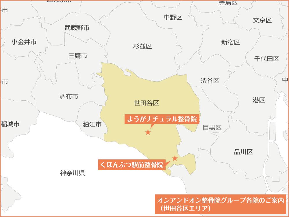 世田谷区エリア内マップ